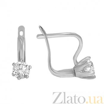 Серебряные серьги Парижанка 10030070