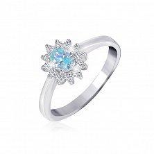 Серебряное кольцо с фианитами Анкария