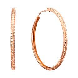 Серьги-кольца Вероника в красном золоте