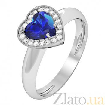 Золотое кольцо с сапфиром Melia KBL--К1100/бел/сапф