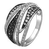 Кольцо в белом золоте Магия с бриллиантами