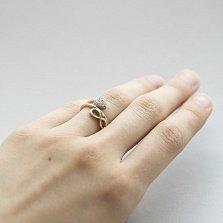 Золотое кольцо Любовь вечна с фианитами