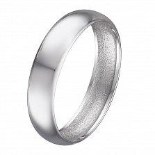 Золотое обручальное кольцо Mid Line в белом цвете