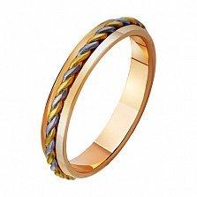 Золотое обручальное кольцо Переплетенные судьбы
