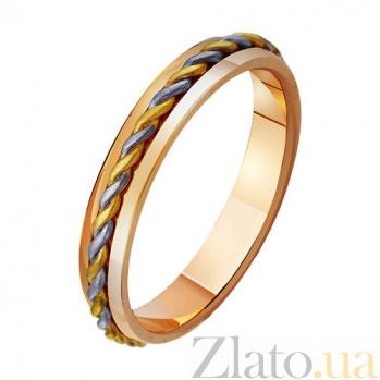 Золотое обручальное кольцо Переплетенные судьбы TRF--471345