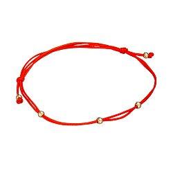 Шелковый браслет Интуиция в красном золоте 000079657