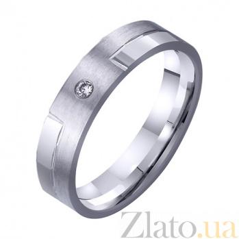 Золотое обручальное кольцо Заветная мечта с фианитом TRF--4221307
