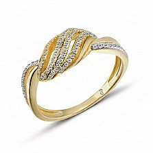 Кольцо из желтого золота Перла с бриллиантами