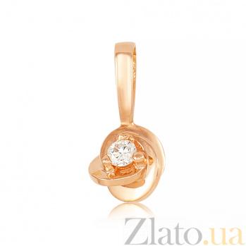 Золотой подвес с бриллиантом Розалин EDM-П7538