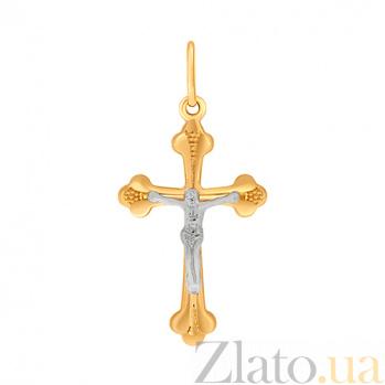 Золотой крестик Небесный ангел 000023900