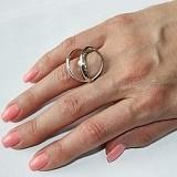 Серебряное кольцо с жемчугом Серпантин