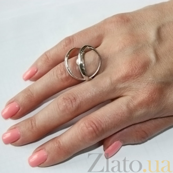 Серебряное кольцо с жемчугом Серпантин С1-Ж