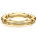 Мужское обручальное кольцо из желтого золота Мой милый ангел: Безграничная Любовь