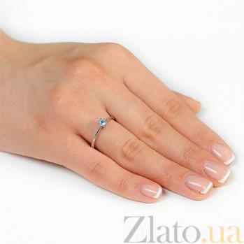 Кольцо из белого золота с топазом Алисия EDM--КД7424/1ТОПАЗ