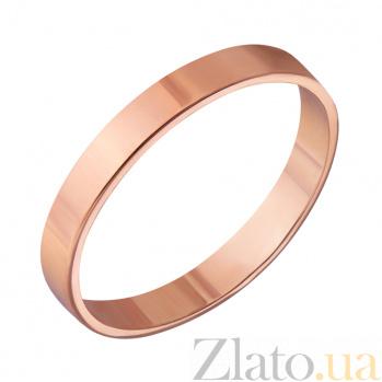 Золотое обручальное кольцо Американский стиль в красном цвете 000000305