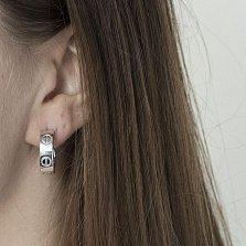 Серебряные серьги-кольца Мелания в стиле Картье