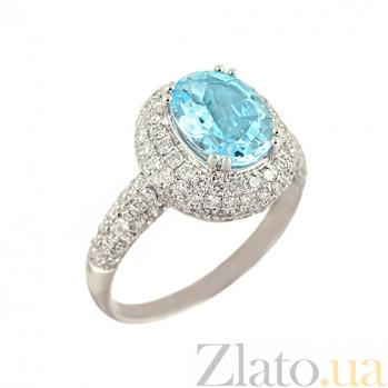 Золотое кольцо с топазом и бриллиантами Айсберг 000026940