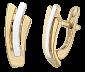Серебряные серьги с позолотой Elle SLX--С32а/213