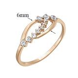 Золотое кольцо с цирконием Прикосновение