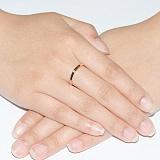 Кольцо из красного золота с бриллиантом Истинная элегантность