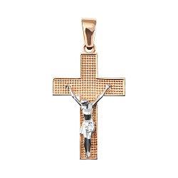Золотой крест в комбинированном цвете 000127047