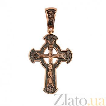 Крестик с черным родированием Божья Благодать VLT--КЛ3007-3