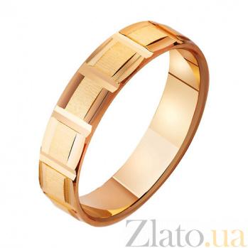 Золотое обручальное кольцо Ты и Я TRF--411048