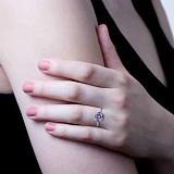Серебряное кольцо с аметистом Фиолент