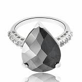 Серебряное кольцо с фианитом Ночь Султана