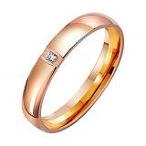 Золотое обручальное кольцо Свет звезды