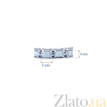 Серебряный браслет с топазами Лайт Блю AQA--B00067T