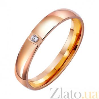 Золотое обручальное кольцо Свет звезды TRF--4121020