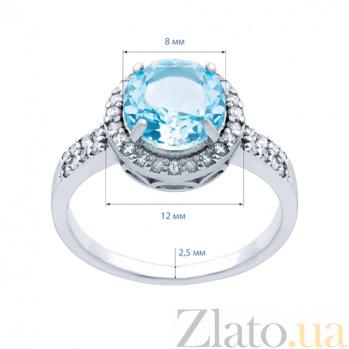 Серебряное кольцо с топазом и фианитами Лия AQA--R01560T