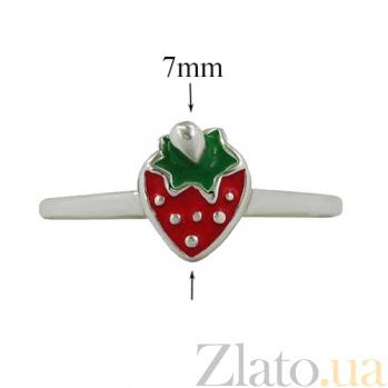 Серебряное кольцо с эмалью Клубника 3К544-0005