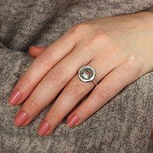 Серебряное кольцо Плавающая рыбка с фианитами в стиле Шопар