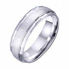 Обручальное кольцо из белого золота Силуэт