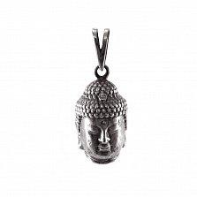 Серебряная подвеска Buddha с чернением