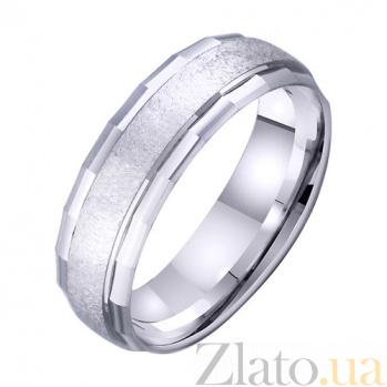 Обручальное кольцо из белого золота Силуэт TRF--4211039
