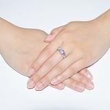 Серебряное кольцо с аметистом Свирель