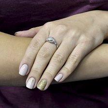 Серебряное кольцо Мудрость с фианитами