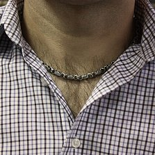 Серебряная цепь Эрондейл с чернением