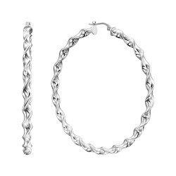 Серебряные серьги-конго, 55мм 000136203