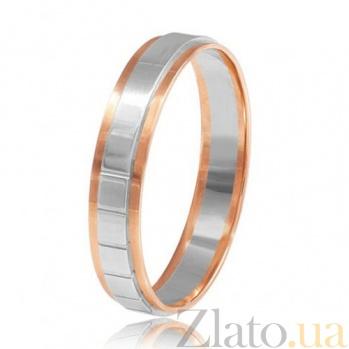 Обручальное кольцо в комбинированном золоте Нить 000001635