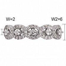 Кольцо из белого золота Сеньора с бриллиантами