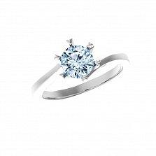 Серебряное кольцо Янина с голубым топазом Sky Blue