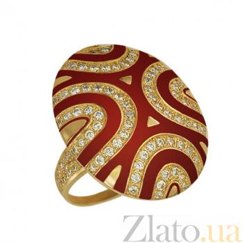 Кольцо из желтого золота Светская львица с фианитами VLT--Т161-2