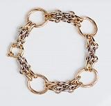 Золотой браслет в комбинированном цвете Практичность