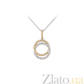 Колье из комбинированного золота с бриллиантами Две судьбы 000032345