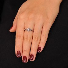 Кольцо из белого золота Флоренса с бриллиантом