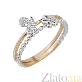 Кольцо из комбинированного золота с бриллиантами Весенняя свежесть 000032296